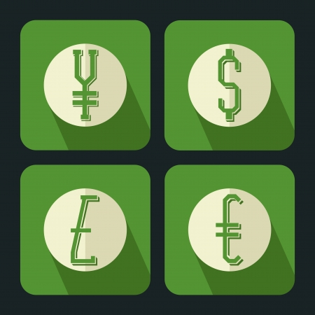 currency flat Ilustrace