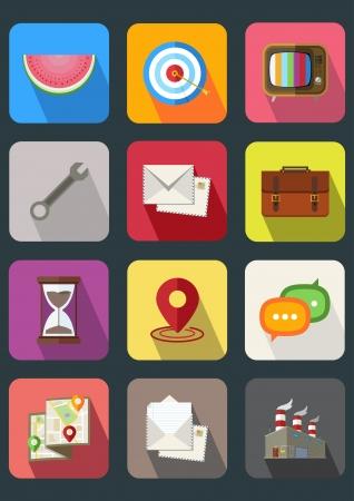 flat icon set 2