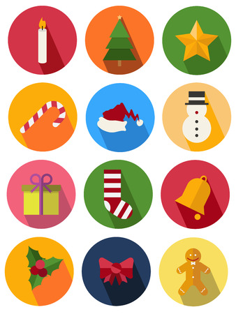 round icon 2 christmas Vector