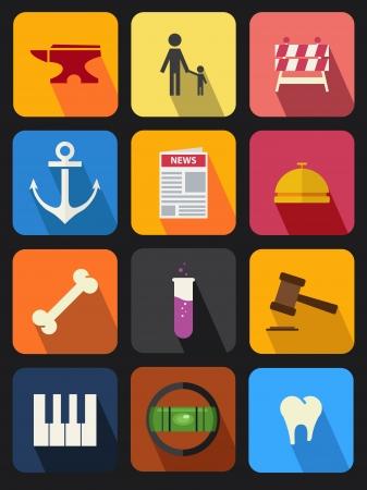 flat icons set 12