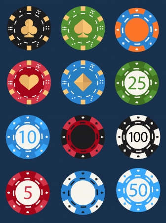 casino chips: poker ships Illustration