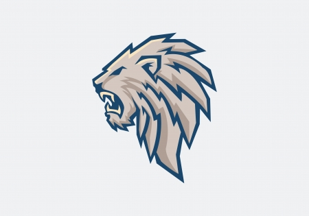 lion head: head of lion Illustration