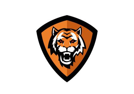 tiger head sport badge Stock Vector - 24540130