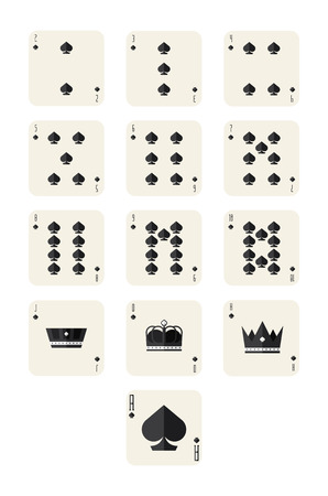 spades playing card set