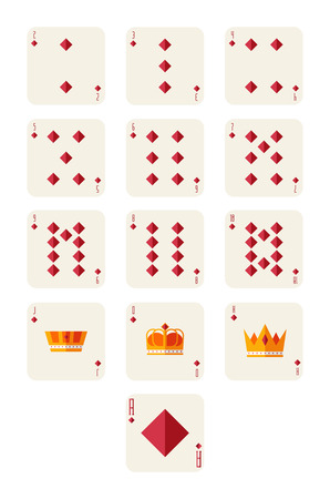 diamonds playing card set