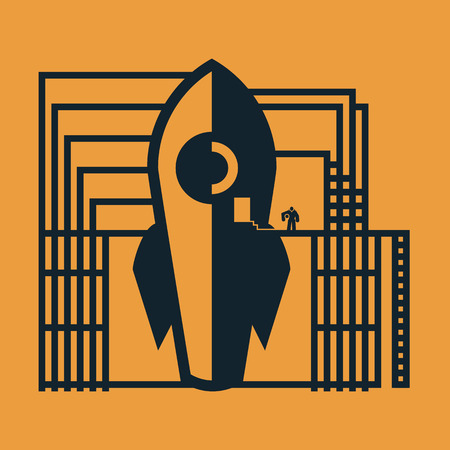 spaceship Ilustrace