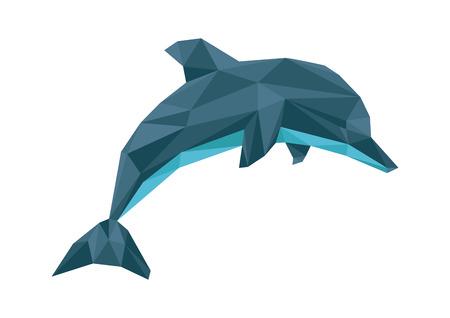 delfin: Delfin wielokąta Ilustracja