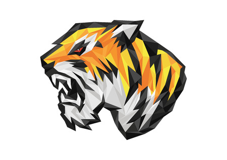 polygonal tiger Ilustrace