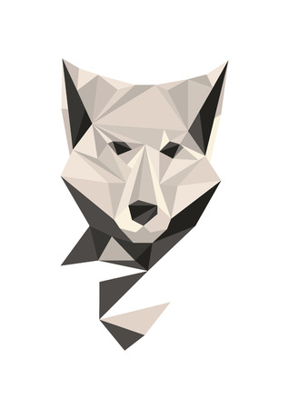 polygonal wolf Vector
