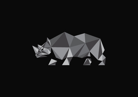 polygonal rhino Illustration