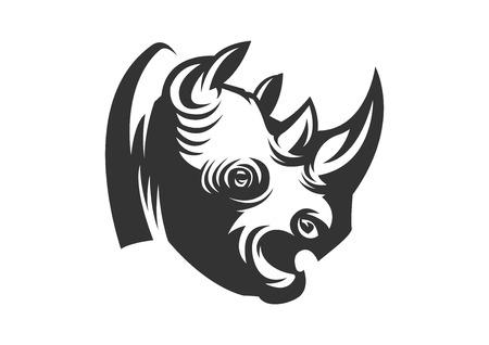rhino letterpress Ilustrace