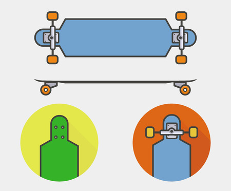 long board icon Illustration