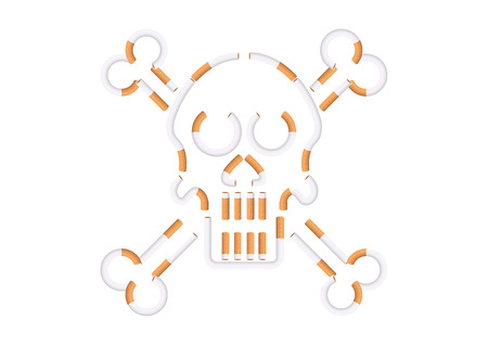 skull shape cigarette Illustration