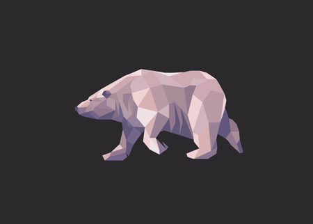 low polygon polar bear