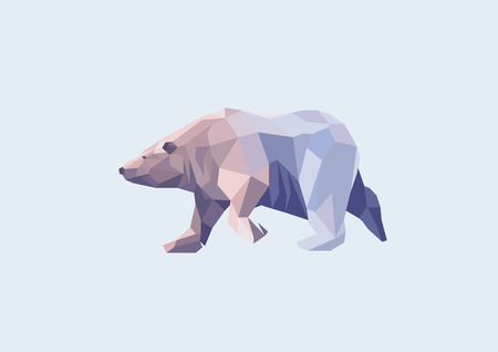polar: low poly polar bear