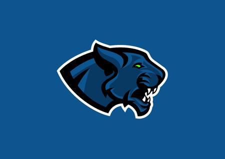 panther hoofd sport mascotte Stock Illustratie