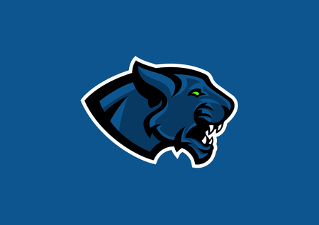 panther head sport mascot