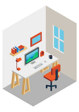 workspace isometric design Illustration