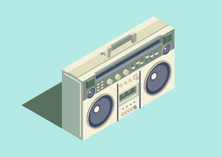 boombox isometric vector design