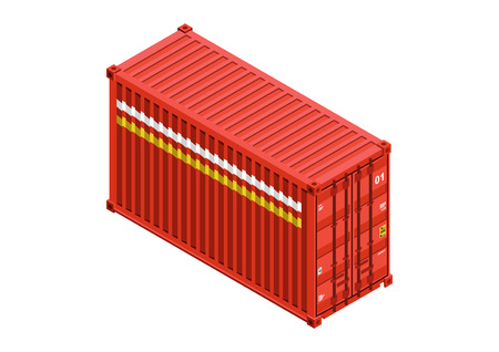 container isometric vector design