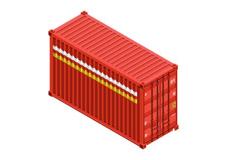 container isometric vector design