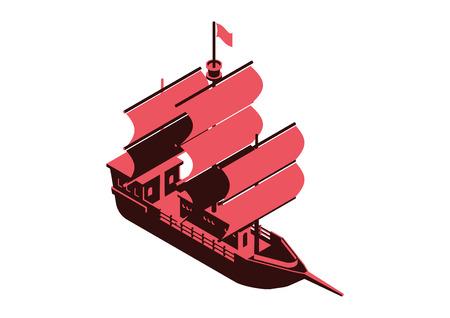 sailing ship isometric vector design Reklamní fotografie - 68180162