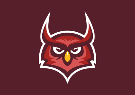 owl sport mascot Reklamní fotografie - 68095182