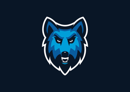 wolf sport mascot Illustration