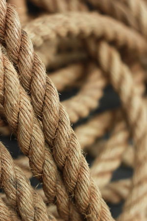 coil: Coil of Ropes Stock Photo