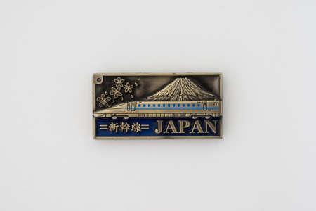 Fridge magnet over white background - Japan