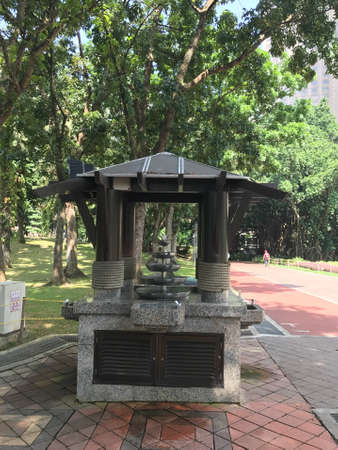Drinking water fountain at a park