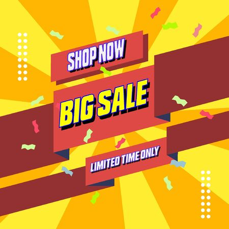 Big Sale Vector Promotion for your social media and online shop