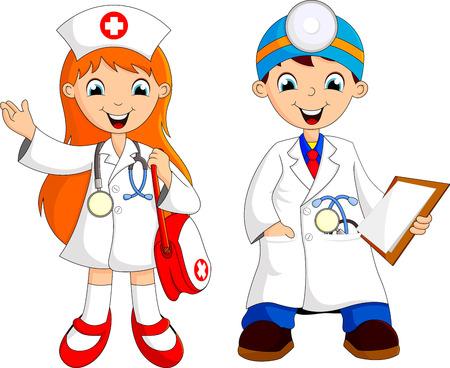 Deux jeune médecin Banque d'images - 23926503