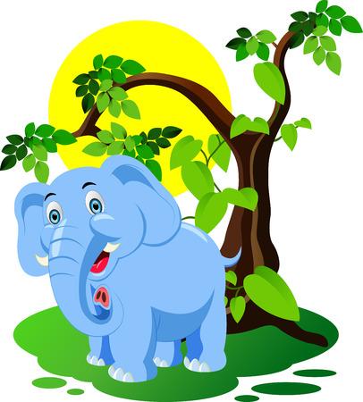 face painting: Elephant Cartoon