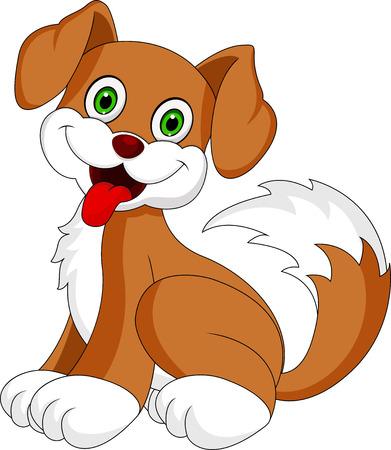 animal nose: Cute puppy cartoon
