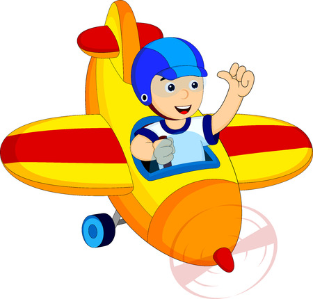 aerodrome: little boy with his airplane
