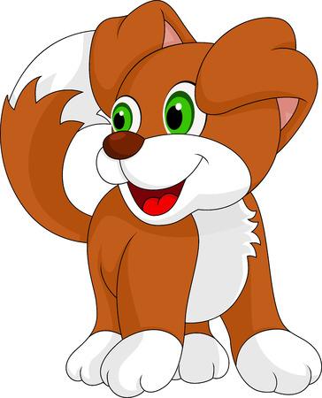 Mignon petit chien rit Banque d'images - 24149732