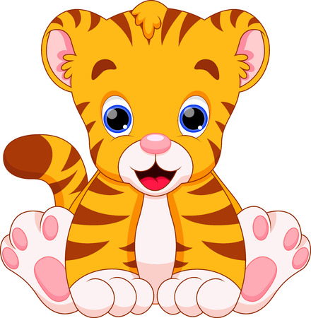 tiger baby are cute and adorable  Vector