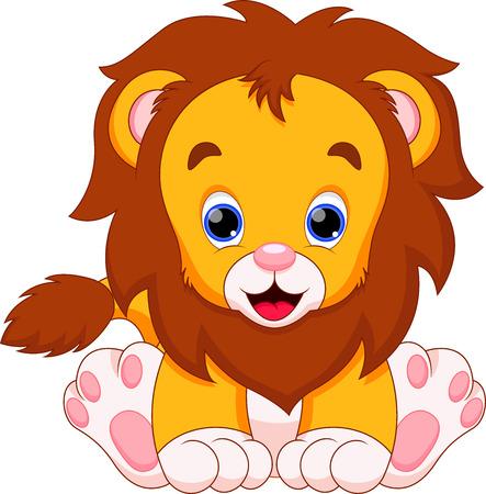 el bebé león es lindo y adorable