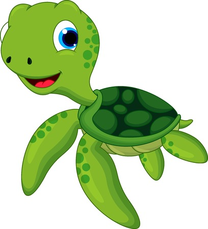 Happy turtle cartoon Illustration