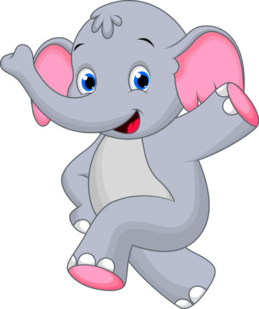 cartoon tier: Happy Elephant Cartoon