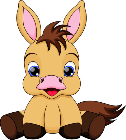 Cute baby horse cartoon