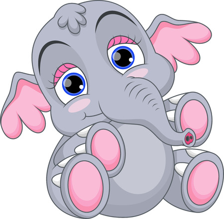 baby toy: Cute baby elephant cartoon