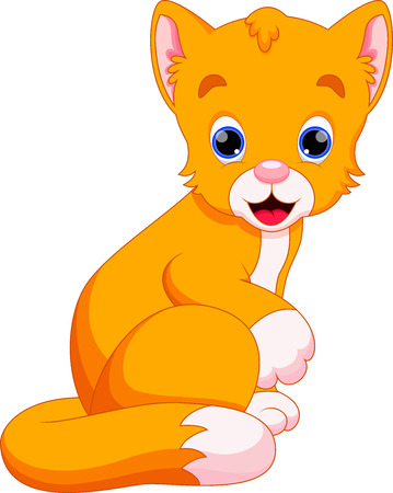 illustration of cat cartoon  Vector