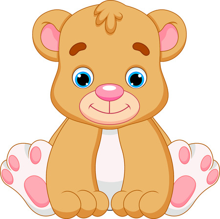 cute baby bear cartoon  Illustration