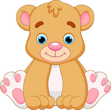 baby cartoon: cute baby bear cartoon  Illustration