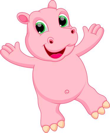 hipopotamo caricatura: Historieta divertida del hipop�tamo