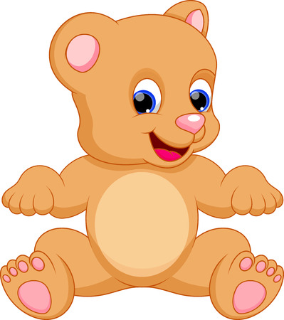 toy bear: Funny bear cartoon Illustration