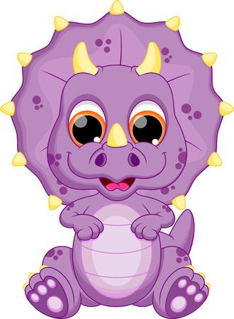 dinosaurio caricatura: Lindo beb� de dibujos animados dinosaurio