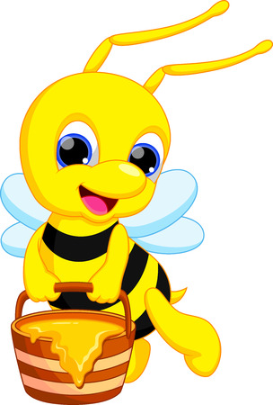 Cute bee cartoon Vector